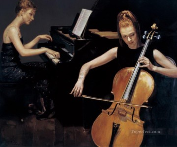 Duet 1989 Chinese Chen Yifei Oil Paintings