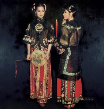 Moon on XiXiang 1994 Chinese Chen Yifei Oil Paintings