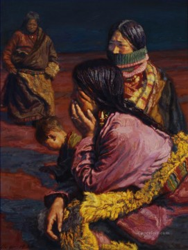 Tibetans Chinese Chen Yifei Oil Paintings