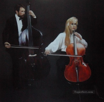Chen Yifei Painting - Viola and Cellist Chinese Chen Yifei