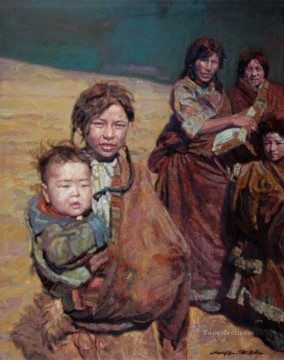Tibetans Tibet Chen Yifei Oil Paintings