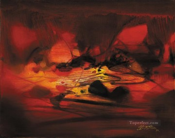 Chinese Painting - Red Composition ZDQ China Abstract