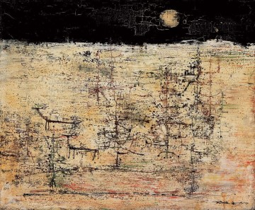 Chinese Painting - Scenery under Moon ZWJ China Abstract