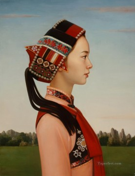 Chinese Painting - Ashima Chinese girl
