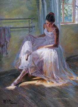 Ballerina Guan Zeju03 Chinese Oil Paintings