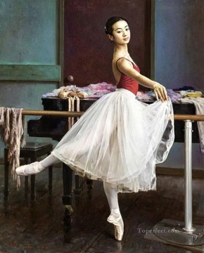 Ballerina Guan Zeju04 Chinese Oil Paintings