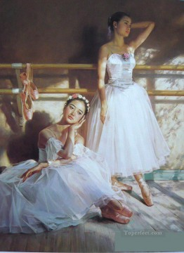 Ballerinas Guan Zeju01 Chinese Oil Paintings