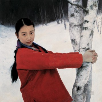 Early spring WYD Chinese Girls Oil Paintings
