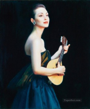 Female Performers Chinese Chen Yifei Girl Oil Paintings