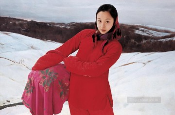 Chinese Girls Painting - Snow WYD Chinese Girls
