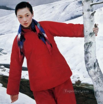 Snowmelt WYD Chinese Girls Oil Paintings