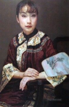 Thinking Chinese Girl Oil Paintings