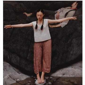 Water of Yihe River WYD Chinese Girls Oil Paintings