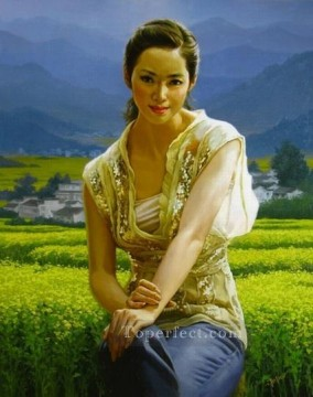 girl in March 2 Chinese girl Oil Paintings