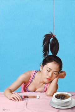 Chinese Girls Painting - have fun on the way to be a sage Chinese girl