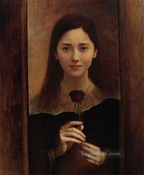 in the name of rose 2 Chinese girl Oil Paintings