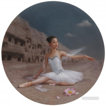 leftover dream Dunhuang Chinese girl Oil Paintings