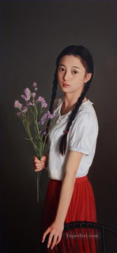 Chinese Painting - seventeen years old at that time Chinese girl