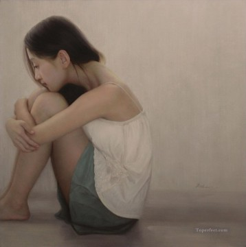 Chinese Girls Painting - traped Chinese girl