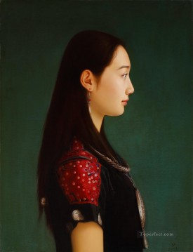 Chinese Painting - woman of Miao nationality Chinese girl