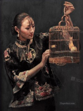 zg053cD131 Chinese painter Chen Yifei Oil Paintings