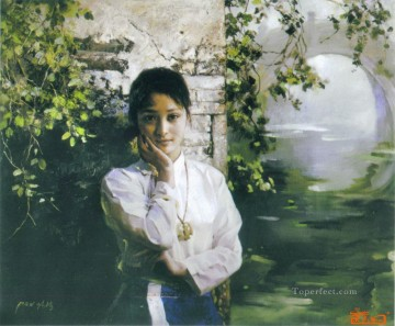 zg053cD152 Chinese painter Chen Yifei Oil Paintings