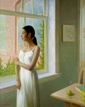 April Chinese Girls Oil Paintings