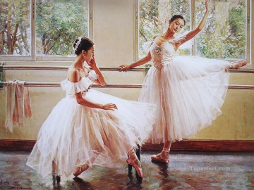 Ballerinas Guan Zeju02 Chinese Oil Paintings