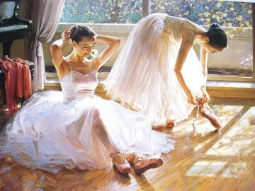 Ballerinas Guan Zeju06 Chinese Oil Paintings