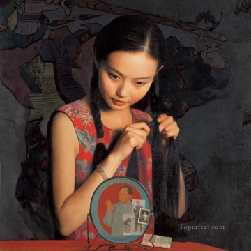 Early morning WYD Chinese Girls Oil Paintings