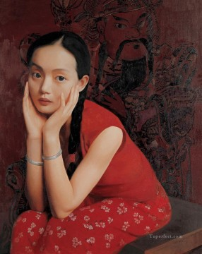 Girl of Spring WYD Chinese Girls Oil Paintings