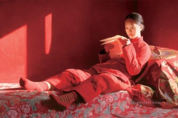 Letter from far Place WYD Chinese Girls Oil Paintings