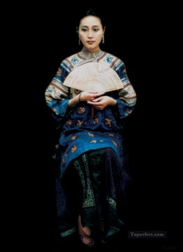 Memory of XunYang Chinese Chen Yifei Girl Oil Paintings