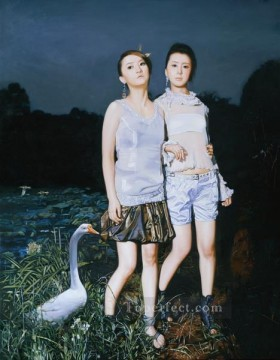 Paradise Lost Chinese Girls Oil Paintings