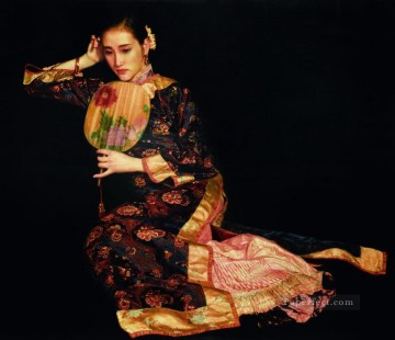 Poppies 1991 Chinese Chen Yifei Girl Oil Paintings