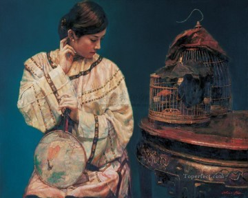 Purdah Chinese Girl Oil Paintings