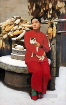 Snow in March WYD Chinese Girls Oil Paintings