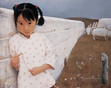 Yimeng Kid 1994 WYD Chinese Girls Oil Paintings