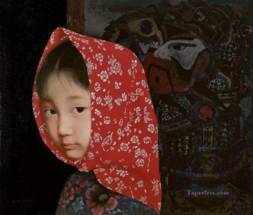 Yimeng Little Girl WYD Chinese Girls Oil Paintings