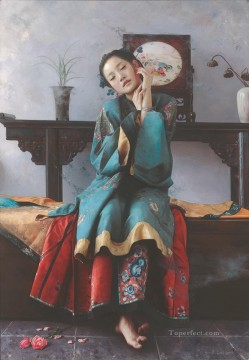 Chinese Painting - dream of marriage Chinese girl