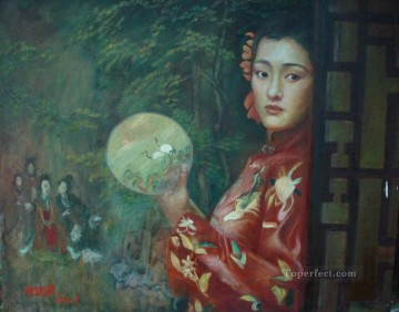 Chinese Girls Painting - zg053cD167 Chinese painter Chen Yifei