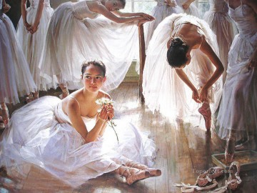 Chinese Girls Painting - Ballerinas Guan Zeju17 Chinese