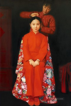 Girl to be Married WYD Chinese Girls Oil Paintings