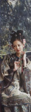 Chinese Painting - a beauty in Nanjing 2 Chinese girl