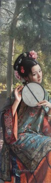 Chinese Painting - a beauty in Nanjing Chinese girl