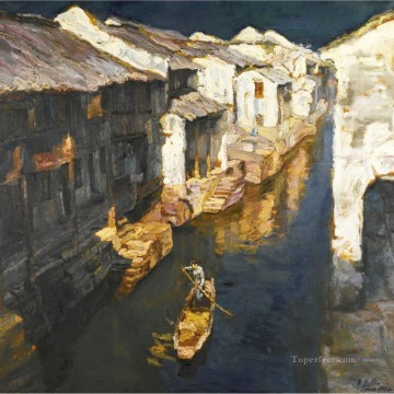 Suzhou Scenery Shanshui Chinese Landscape Oil Paintings
