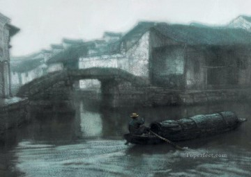 Zhou Town at Dawn Shanshui Chinese Landscape Oil Paintings