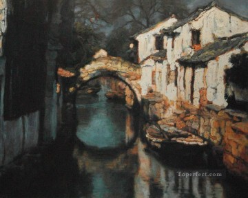 Chinese Painting - Zhouzhuang Water Towns Shanshui Chinese Landscape