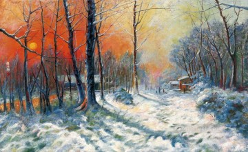 山水画 - Colorful Snowland Yan Wenliang 中国山水画