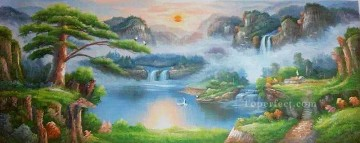 Chinese Painting - Dream Heaven Chinese Landscape